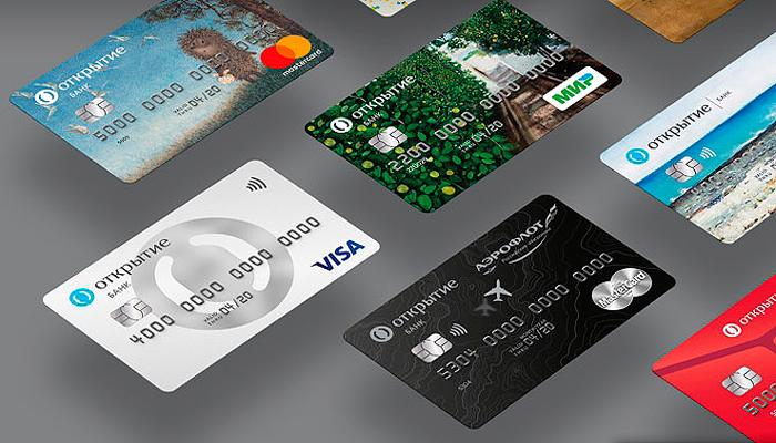 Виды дебетовых карт банка Открытие