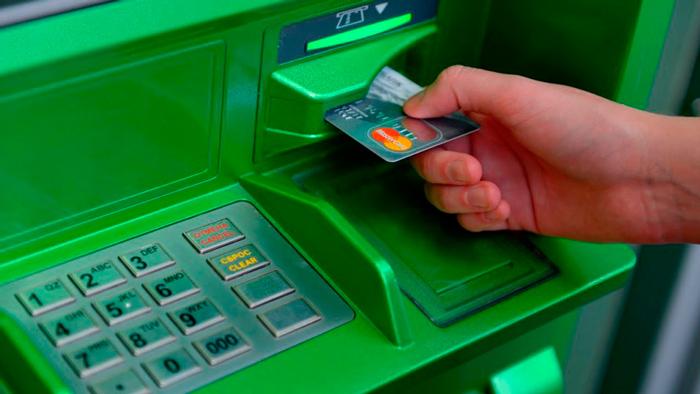 Снятие долларов в банкомате Сбербанка
