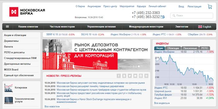 Сайт ММВБ
