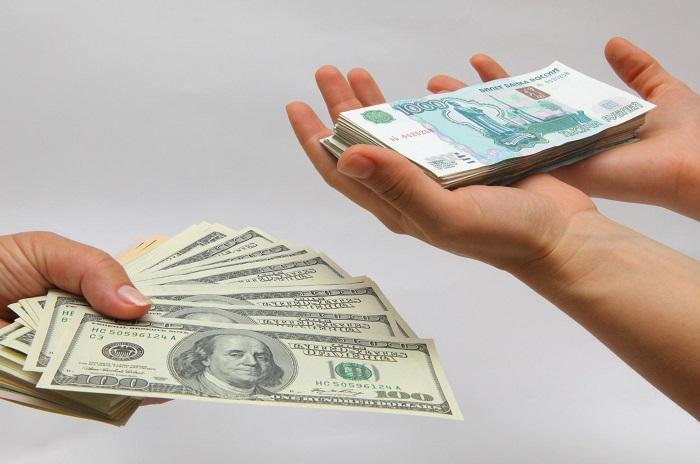 Обменять рубли на доллары