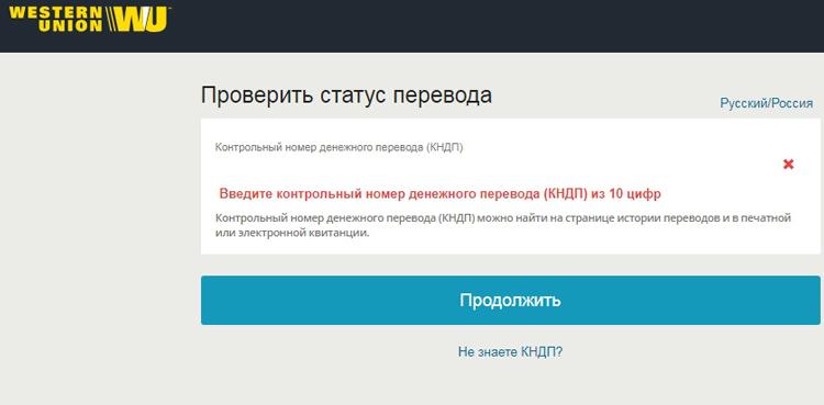 Как узнать статус перевода на сайте
